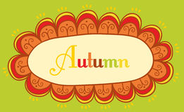 Abstract frame for your text. Autumnal theme header. Vector bann Royalty Free Stock Photo