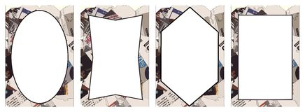 Abstract frames with different shapes Royalty Free Stock Photography