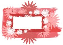Abstract frames woth flowers Stock Photography