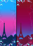 Abstract France Eiffel tower flower background Stock Photography