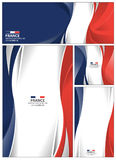 Abstract France Flag Background. France flag abstract colors background. Collection banner design. brochure vector illustration Stock Image