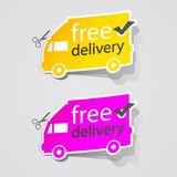 Abstract Free Shipping labe sign car Royalty Free Stock Photo