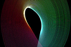 Abstract freezelight curves Stock Photography