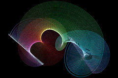 Abstract freezelight curves Stock Image