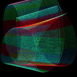 Abstract freezelight curves Royalty Free Stock Photography