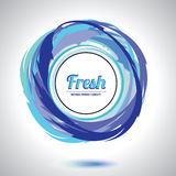 Abstract fresh circle element. Royalty Free Stock Photo