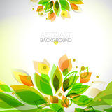 Abstract fresh colors decorative summer frame Royalty Free Stock Photo