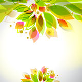 Abstract fresh colors decorative top and bottom summer frame Stock Photos
