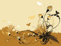 Abstract fresh floral background stock illustration