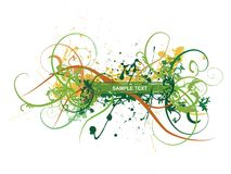 Abstract fresh floral background with of your text Stock Image