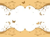 Abstract fresh floral design Royalty Free Stock Image