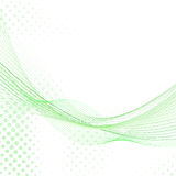 Abstract fresh green lines background Stock Photography