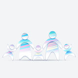 Abstract Friendly family 2 Royalty Free Stock Photo