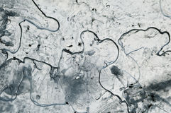 Abstract frosted pattern ice. Stock Photography