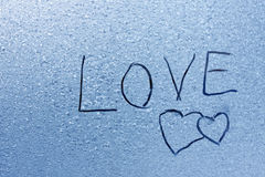 Abstract frosty heart pattern Royalty Free Stock Image