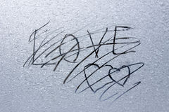 Abstract frosty heart pattern Stock Photography