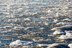 Abstract frozen ice blocks in the sea Royalty Free Stock Image