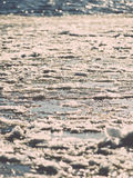 Abstract frozen ice blocks in the sea - vintage retro effect Stock Images