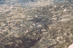 Abstract frozen ice blocks in the sea - vintage retro effect Stock Image