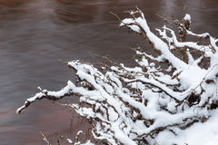 Abstract frozen ice textures in the river Royalty Free Stock Photography