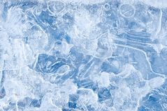 Abstract frozen water background Royalty Free Stock Photo