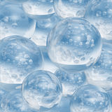 Abstract frozen water ball Stock Photo