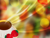 Abstract fruit background. Color illustration Stock Photo