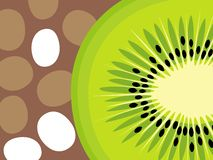 Abstract fruit design in flat cut out style. Kiwi Fruit. stock illustration
