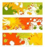Abstract fruit en plantaardige banners Royalty-vrije Stock Foto
