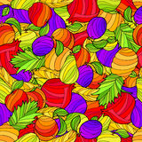 Abstract fruit food graphic art color seamless pattern illustration Royalty Free Stock Photos