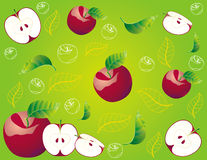 Abstract fruit Illustration  apple red Stock Image