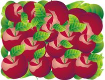 Abstract fruit Illustration  apple red Stock Photo