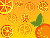 Abstract fruit Illustration  orange Stock Photos