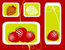 Abstract fruit Illustration strawberry  red  Royalty Free Stock Photos