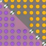 Abstract Fruit: Kleurrijk fruitpatroon van verse oranje plakken op de achtergrond Hoogste mening Royalty-vrije Stock Foto's