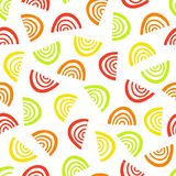 Abstract fruit segment pattern. Simple seamless summer background. Stock Photography