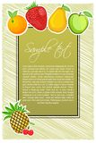 Abstract fruit text template Royalty Free Stock Images