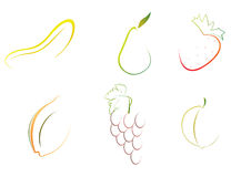Abstract Fruits Royalty Free Stock Images