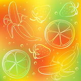 Abstract fruits color background royalty free illustration
