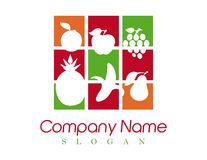 Abstract fruits logo on a white backgroun Stock Images