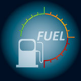 Abstract fuel indicator Royalty Free Stock Photography