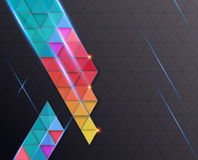 Abstract full color line on dark Background royalty free illustration