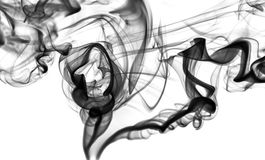 Abstract fume: black smoke swirls or curves royalty free stock image