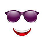 Abstract Fun Face with Mouth and Sunglasses Royalty Free Stock Images