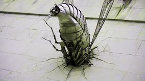 Abstract fun robo insect wall animal Royalty Free Stock Photography