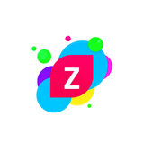 Abstract fun Z letter logo creative flat children avatar vector Stock Photography