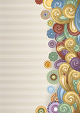 Abstract Funky Background. Vector background with abstract flowers and swirls. EPS 10, contains transparency Stock Photo