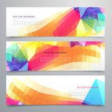 Abstract funky banners set of three Stock Images