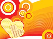 Abstract funky love background Stock Image
