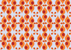 Abstract funky  pattern. Vector illustration of red - orange drops retro abstract funky  pattern Royalty Free Stock Photo